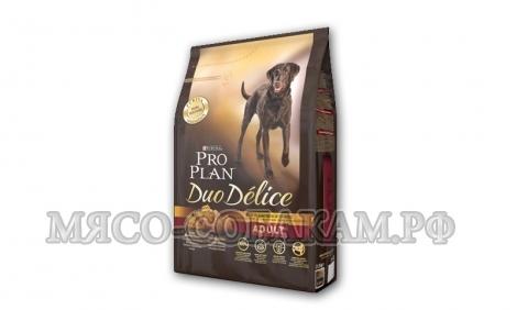 ПРО ПЛАН  для собак говядина с рисом (DUO DELICE)